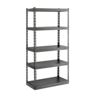 garage shelving systems gladiator 72 in h x 36 in w x 18 in d 5 shelf steel 15729