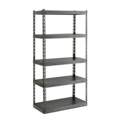72 in. H x 36 in. W x 18 in. D 5-Shelf Steel Garage Shelving Unit with EZ Connect