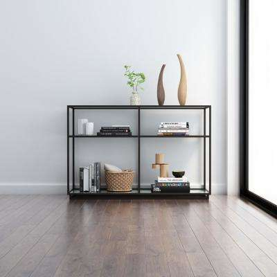 Kure Distressed Black Console Table