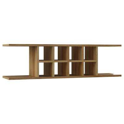 Hampton Ready to Assemble 48 x 13.375 x 11.25 in. Wall Flex Shelf in Natural Hickory