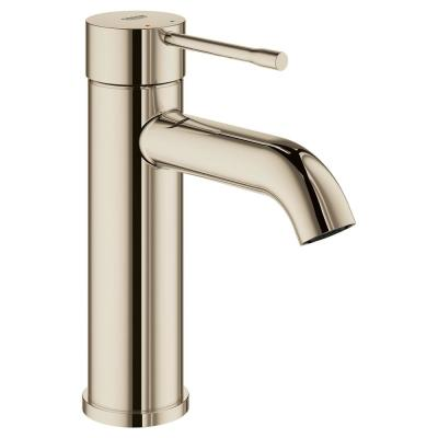 Essence S-Size Single Hole Single-Handle Bathroom Faucet with Adjustable Flow Control in Polished Nickel