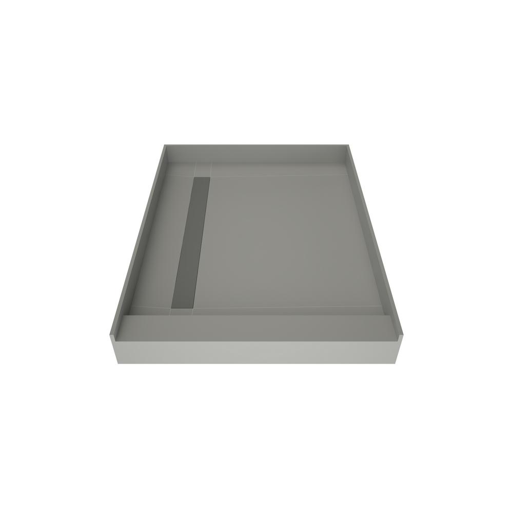 WonderFall Trench 42 in. x 36 in. Single Threshold Shower Base with Left Drain and Tileable Trench Grate