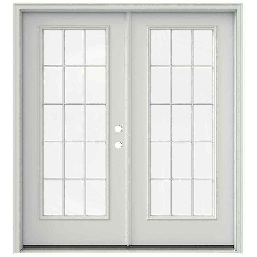French Doors Product : Jeld wen in primed prehung left hand inswing