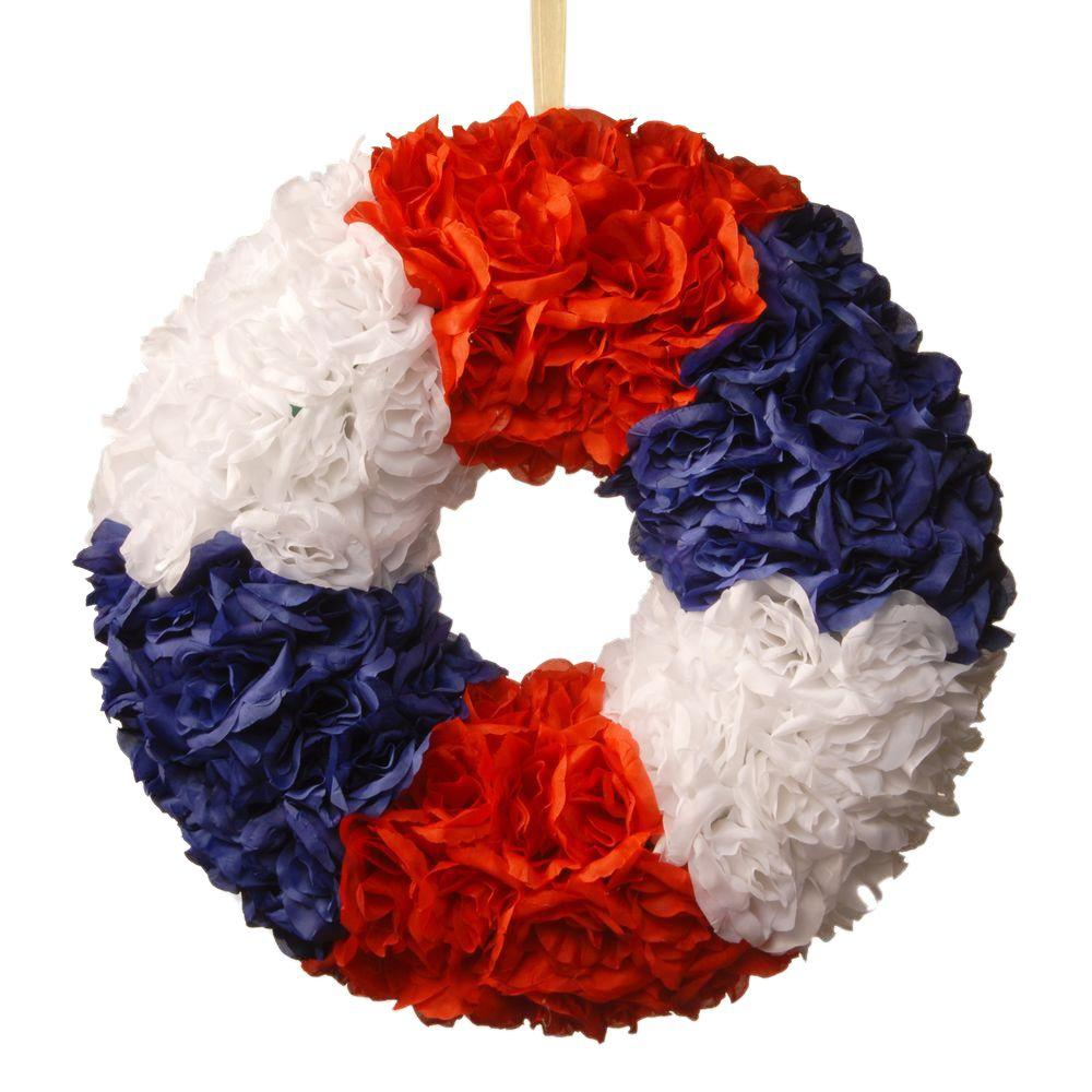 18 in. Patriotic Rose Wreath