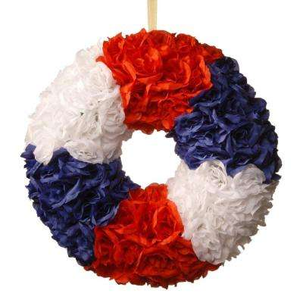 18 in. Patriotic Rose Wreath