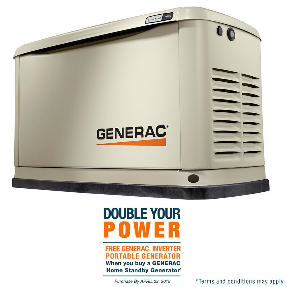 generac. Generac 11,000-Watt (LP)/10,000-Watt (NG) Air Cooled