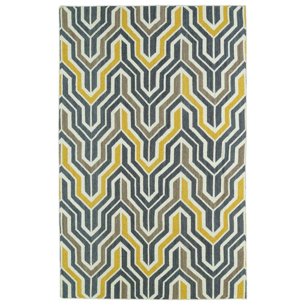Glam Yellow 2 ft. x 3 ft. Area Rug