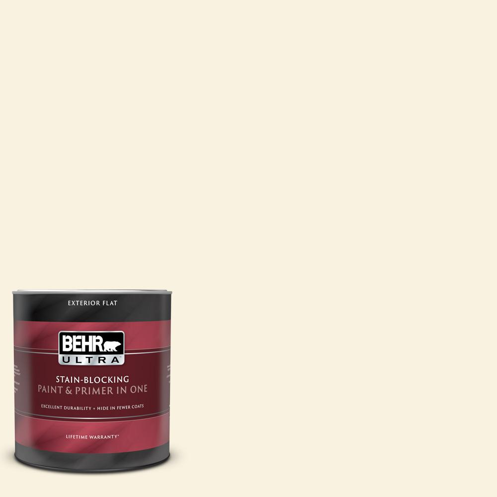 BEHR ULTRA 1 qt. #390A-1 Star Dust Flat Exterior Paint and Primer in One