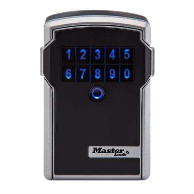 Bluetooth 9.7 cu. in. Zinc Wall Mount with Backup Keypad Entry, Black and Silver