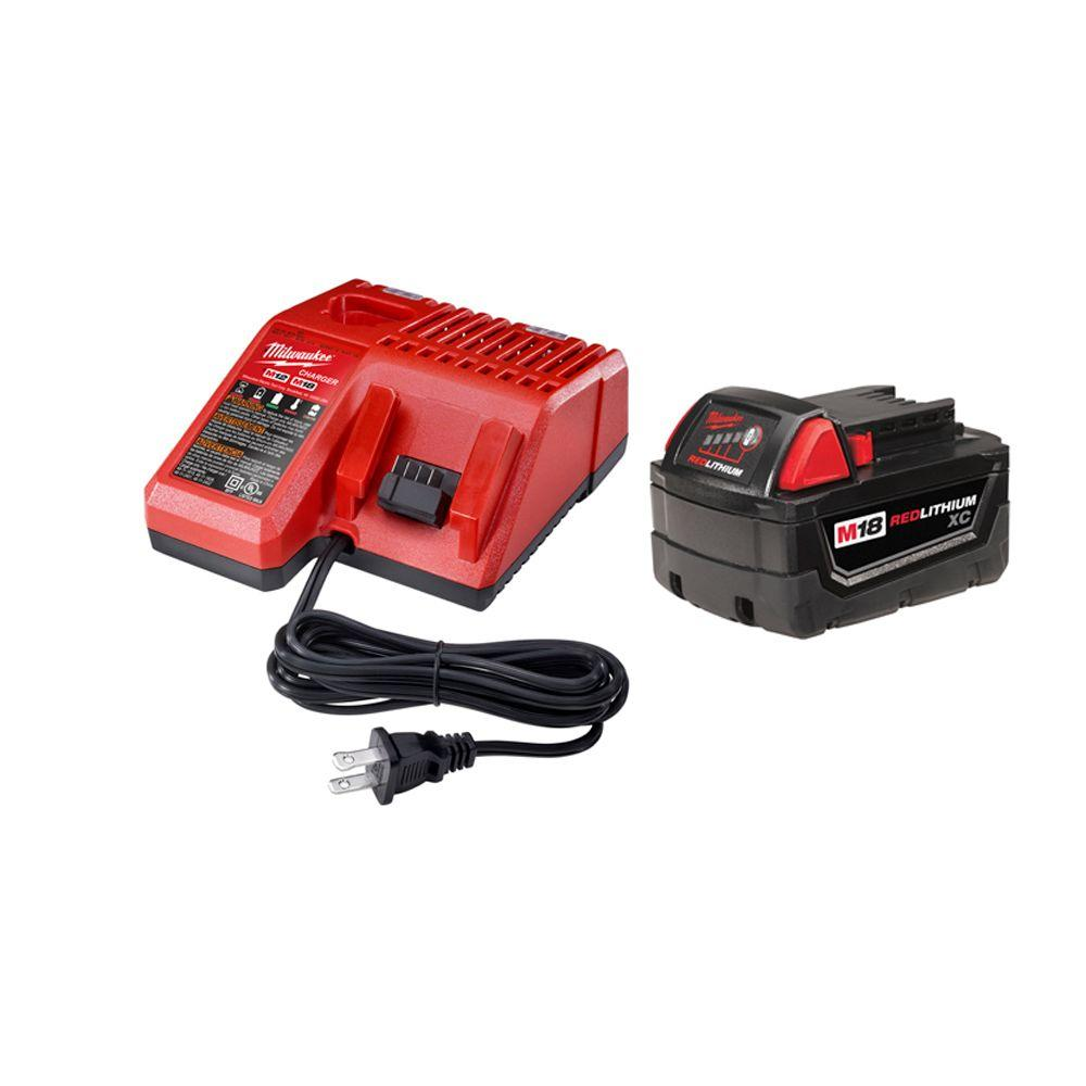 Milwaukee M18 18-Volt 3.0Ah Battery with Multi-Voltage Charger Starter Kit