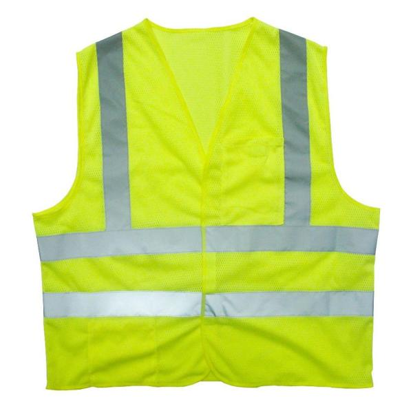 Large Flame Resistant Class 2 High Visibility 2 Pocket Safety Vest