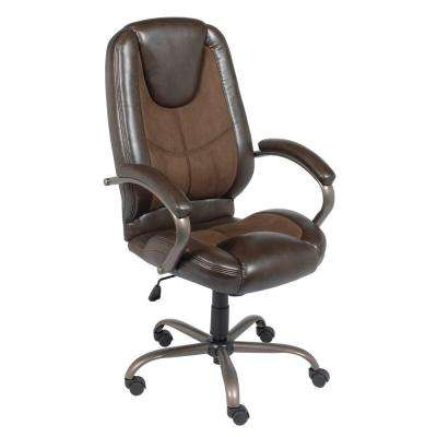 Espresso Leather/Microfiber Manager Office Chair