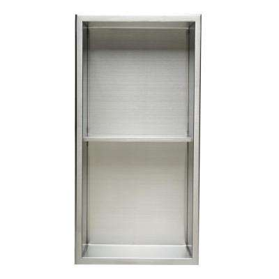 12 in. x 24 in. x 4 in. Niche in Brushed Stainless Steel
