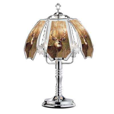23.5 in. Deer Buck Silver Touch-On Table Lamp