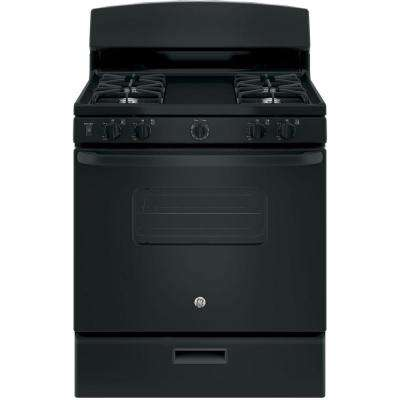 30 in. 4.8 cu. ft. Free-Standing Gas Range in Black