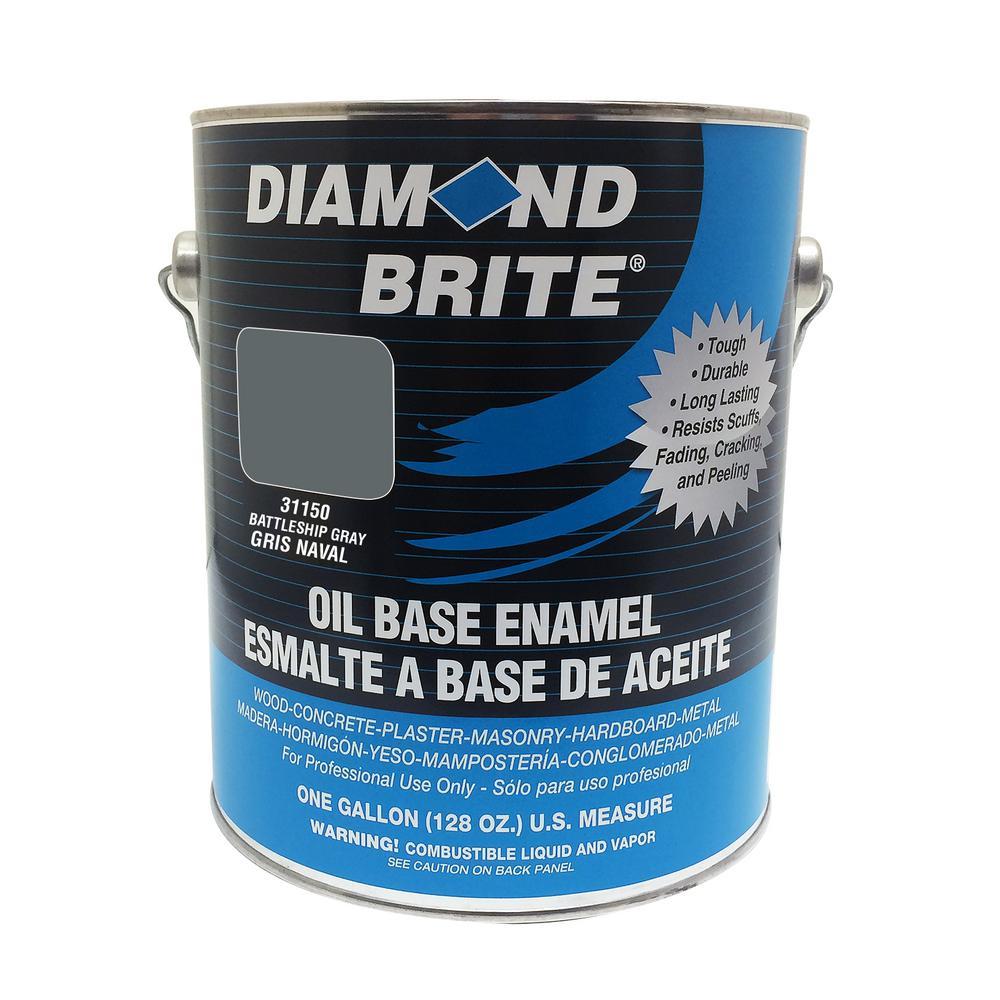 Diamond Brite Paint 1 gal. Battleship Gray Oil Base Enamel Interior/Exterior Paint