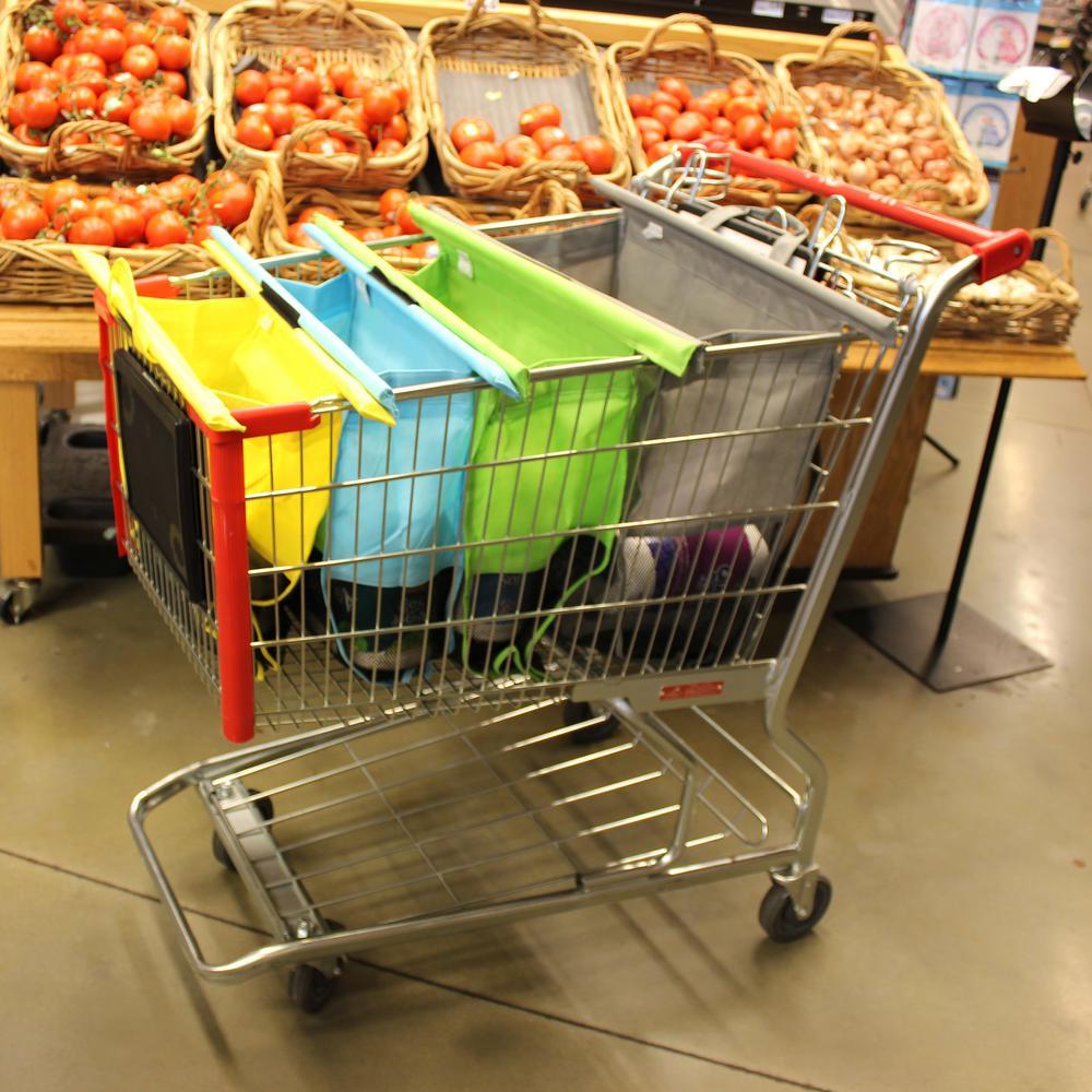 Trolley Bags Original Pastel Reusable Grocery Bags (Set of 4)