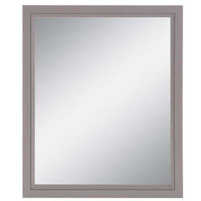 25.67 in. W x 31.38 in. H Single Framed Wall Mirror in Taupe Gray