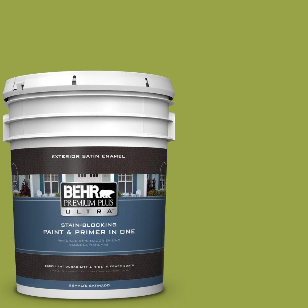 BEHR Premium Plus Ultra 5-gal. #P360-6 Fresh Apple Satin Enamel Exterior Paint