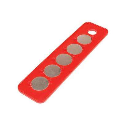 MagClip 1/4 in. Drive 2-1/4 in. x 9 in. Red Magnetic Socket Holder Strip