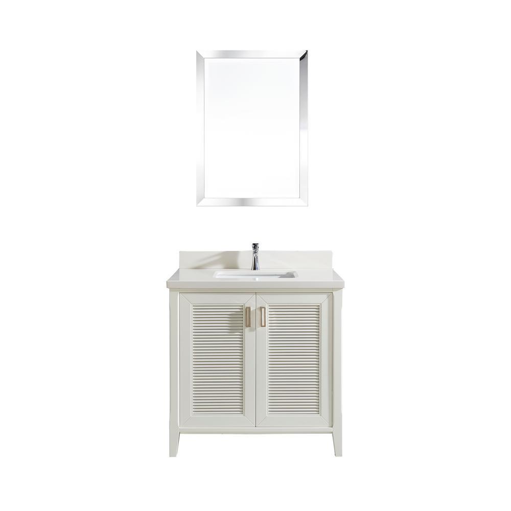 Studio Bathe Aurora 36 in. W x 22 in. D Vanity in White w...