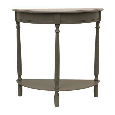 Simplicity Eased Edge Gray Half Round Console Table