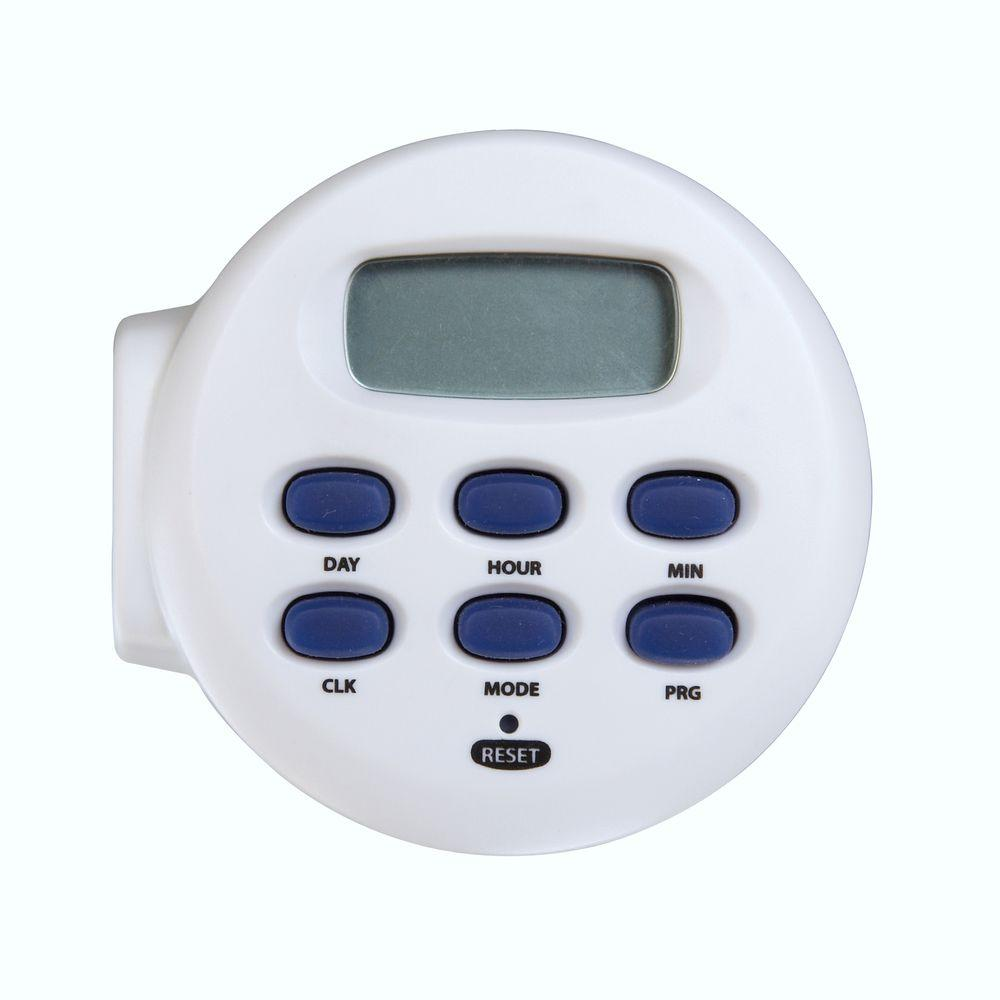 Light Timer Home Depot: Westek 8.3 Amp Basic Digital Timer-TE04WHB
