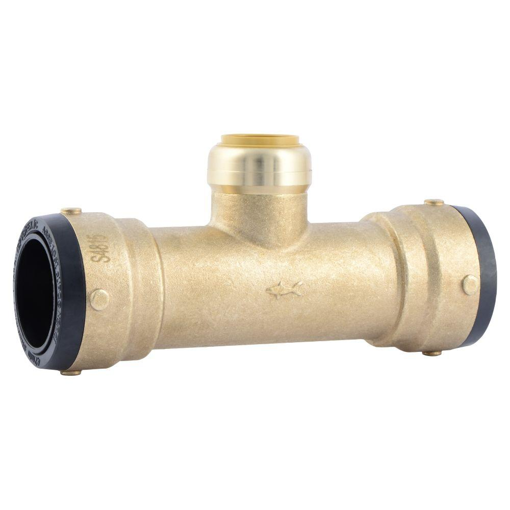 1-1/2 in. x 1-1/2 in. x 1 in. Brass Push-to-Connect Reducer