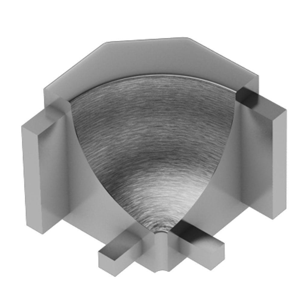 Dilex-AHK Brushed Chrome Anodized Aluminum 1/2 in. x 1 in. Metal 90 Degree Inside Corner
