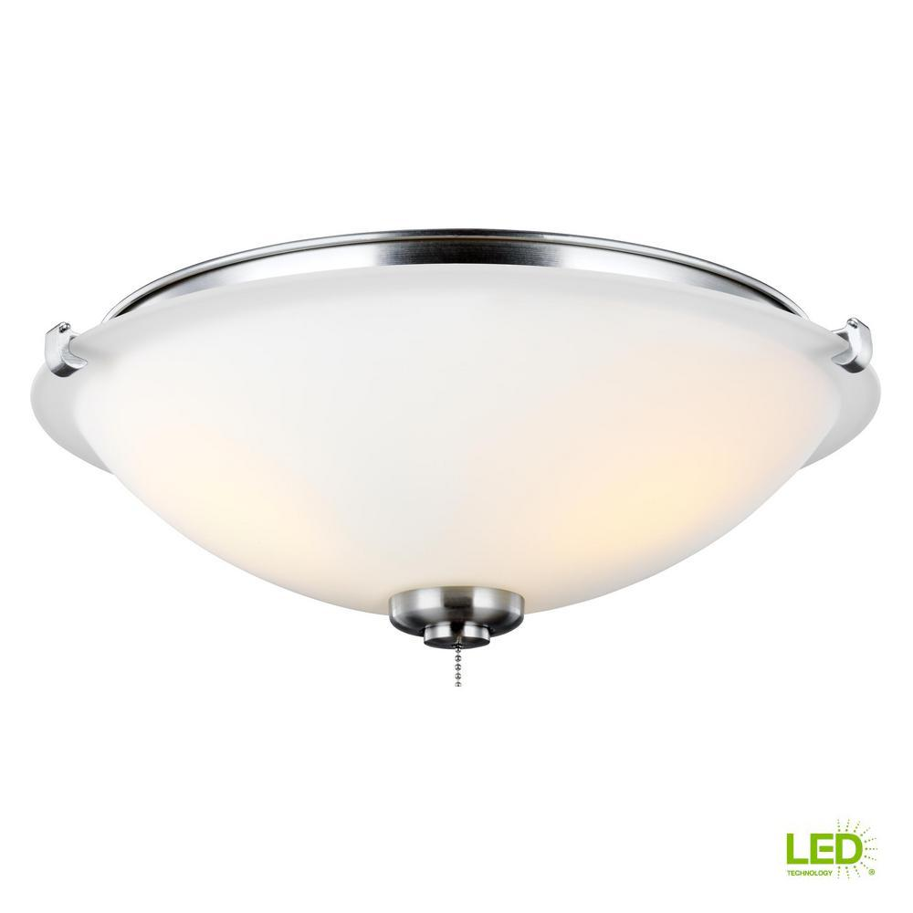 Monte Carlo 3-Light LED Ceiling Fan Light Kit-MC247BS - The Home Depot