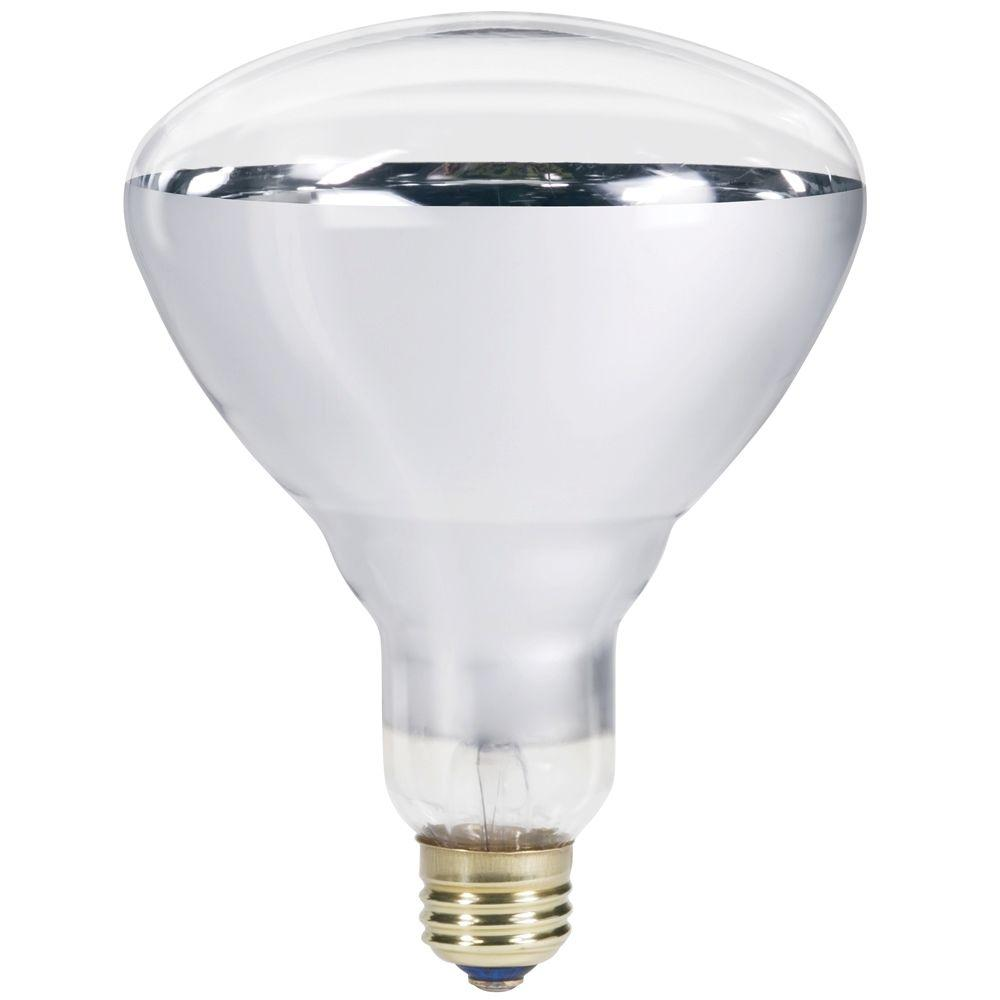 Philips 250 watt 120 volt incandescent br40 heat lamp light bulb 416743 the home depot Light bulb lamps