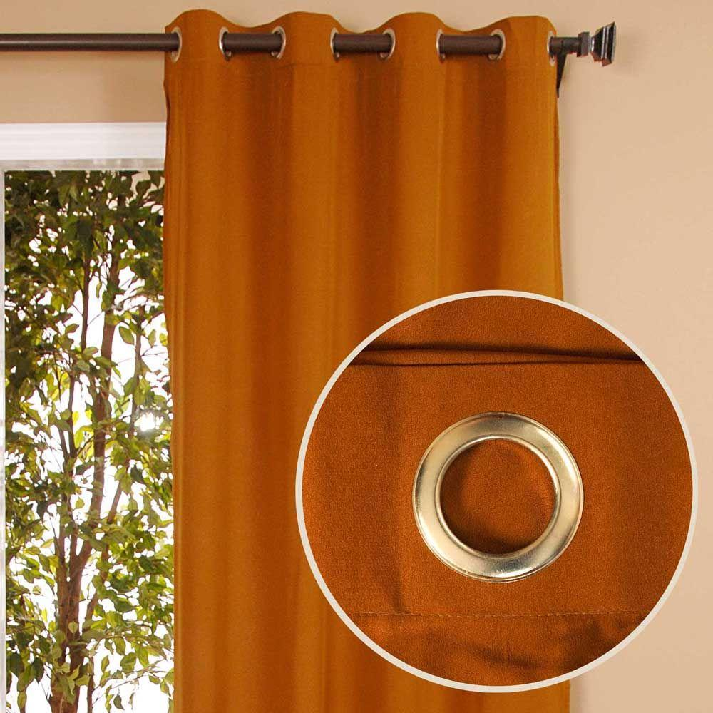 Home Decorators Collection Sheer Bela Earth Tone Grommet Curtain