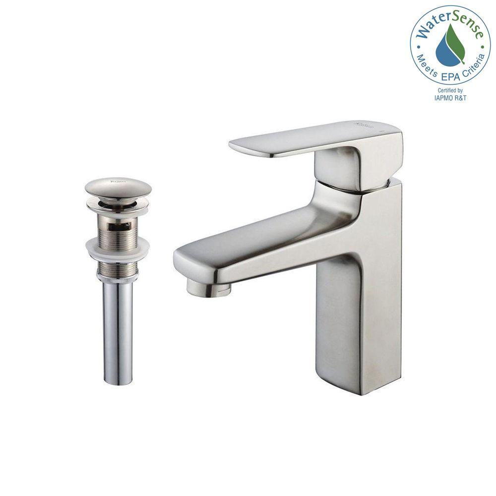 Virtus Single Hole Single-Handle High-Arc Vessel Bathroom Faucet with Pop-Up
