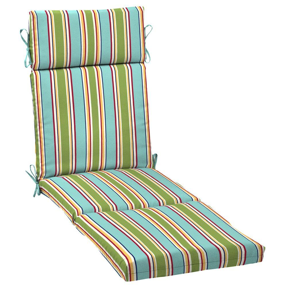 Arden Beachside Stripe Outdoor Chaise Cushion-DISCONTINUED