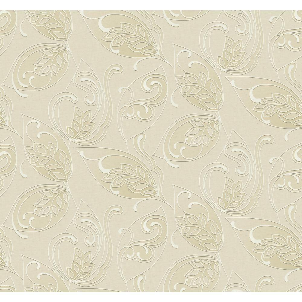 Glam Leaves Jacobean Wallpaper