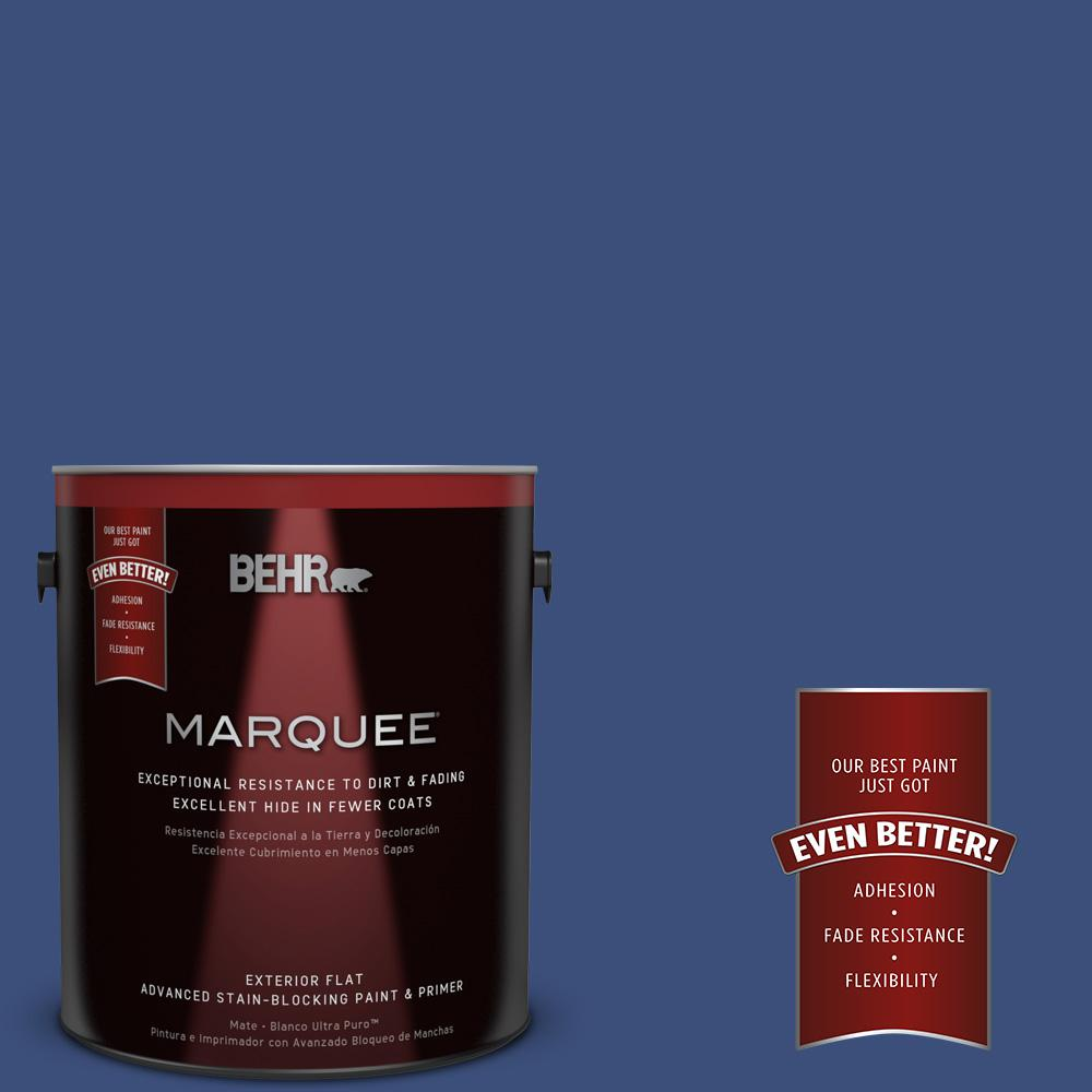 BEHR MARQUEE 1-gal. #S-H-600 Sailor Flat Exterior Paint