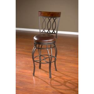 American Heritage Bella 26 inch Pepper Cushioned Bar Stool by American Heritage