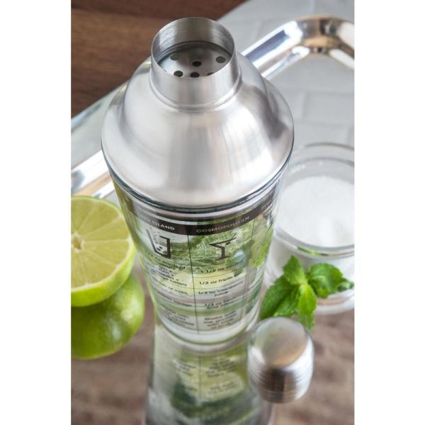 Outset B327 Cocktail Shaker Glass and Stainless Steel 12-Ounce