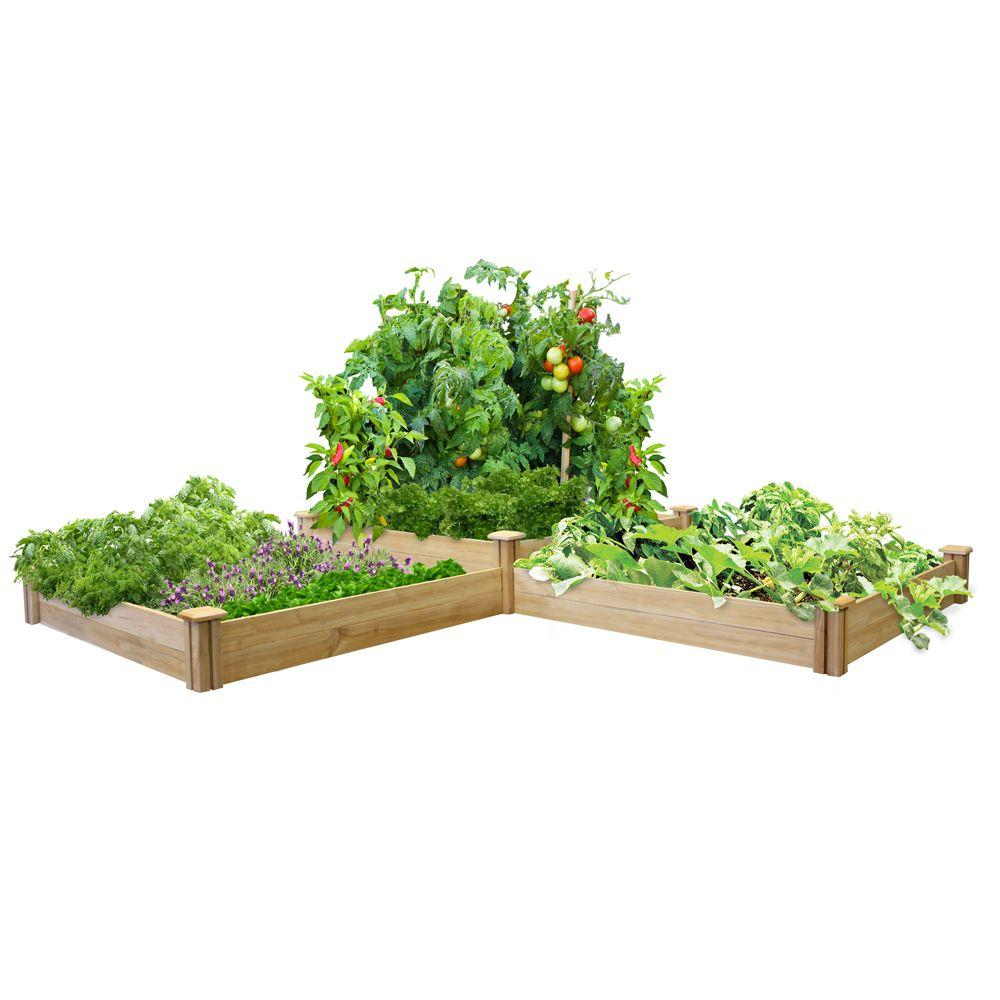 Two Tiers Original Cedar Raised Garden Bed