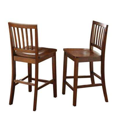 Branson 39 in. Brown Counter Chair (Set of 2)