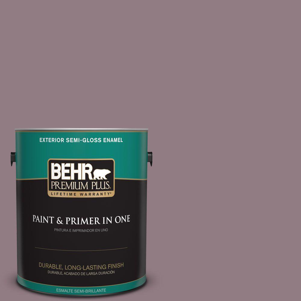 1-gal. #100F-5 Gypsy Magic Semi-Gloss Enamel Exterior Paint