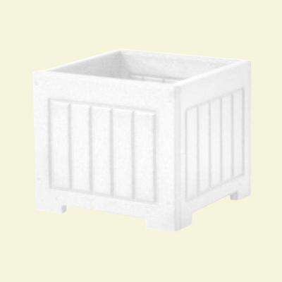 Catalina 12 in. x 12 in. White Recycled Plastic Commercial Grade Planter Box
