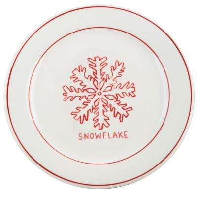 Molly Hatch 8.5 in. D Snowflake Salad Plate