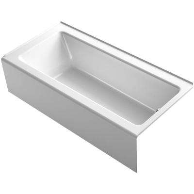 Bellwether 5.5 ft. BubbleMassage Walk-In Whirlpool and Air Bath Tub in White