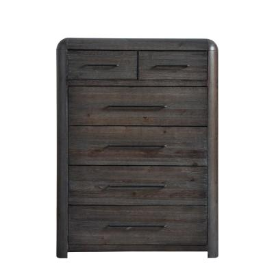 Oakley 6-Drawer Distressed Java Chest of Drawers 54 in. x 40 in. x 17 in.