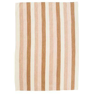 Brown and Tan 4 ft. x 6 ft. Striped Area Rug