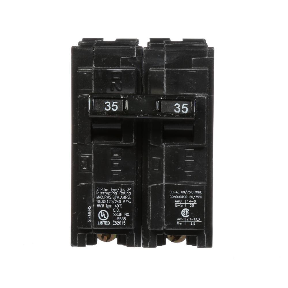 siemens 35 amp double pole type qp circuit breaker q235 the home depot rh homedepot com