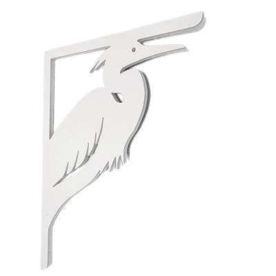Decorative 16 in. Paintable PVC Heron Mailbox or Porch Bracket
