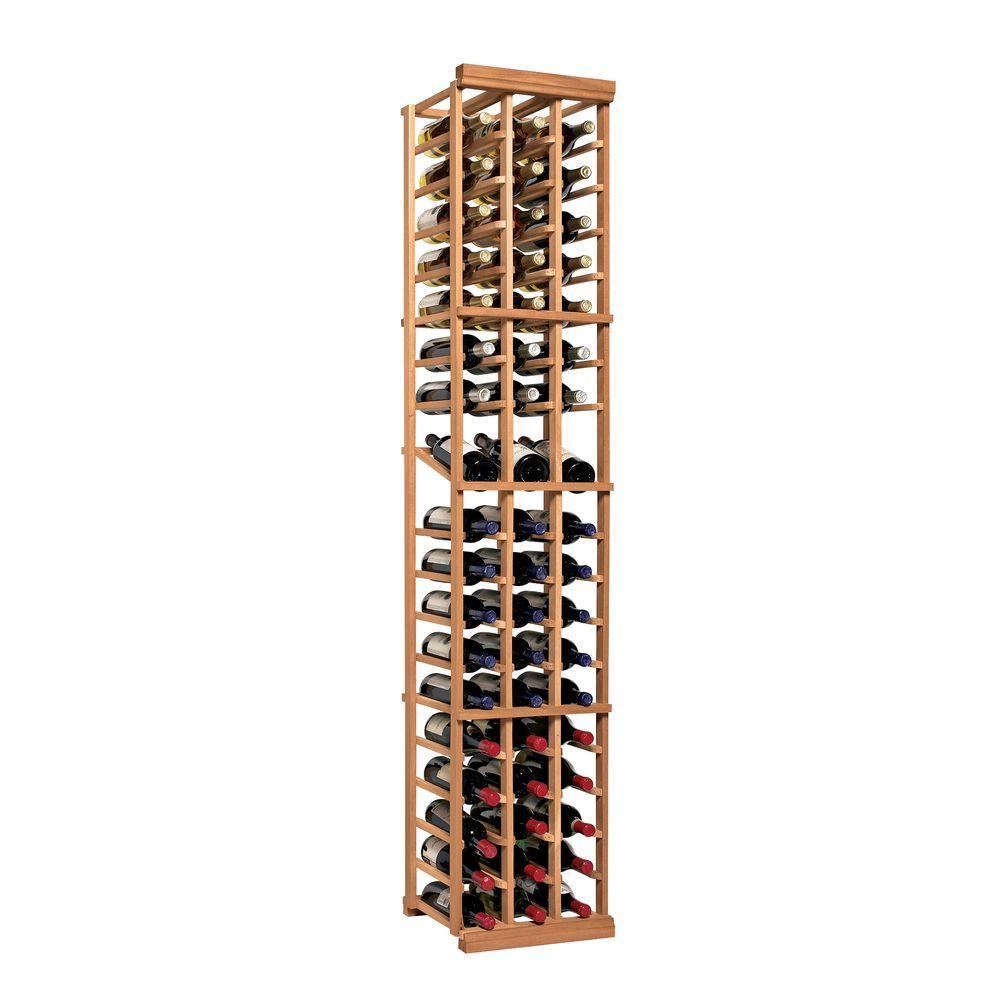 N'Finity 54-Bottle Natural Floor Wine Rack