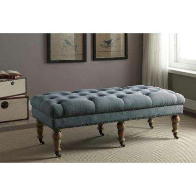 Tufted - Blue - Bedroom Benches - Bedroom Furniture - The Home Depot